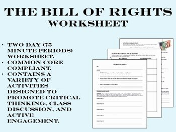 Bill Of Rights Worksheet Unique the Bill Of Rights Worksheet Us History Mon Core