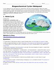 Biogeochemical Cycles Worksheet Answers Elegant Biogeochemical Cycles Webquestcx Name Date Block