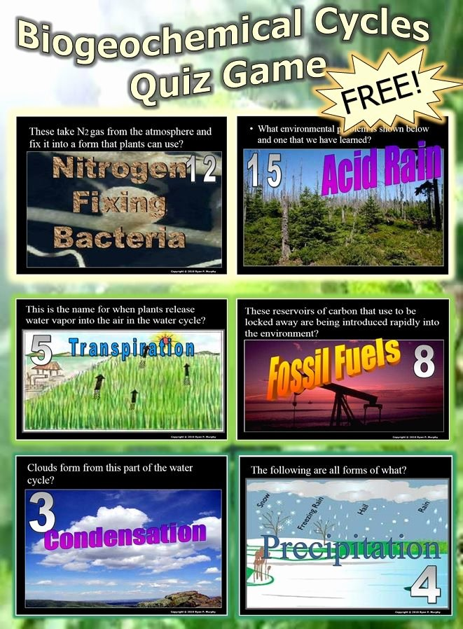 Biogeochemical Cycles Worksheet Answers New This is A Free 110 Slide Powerpoint Quiz Game About