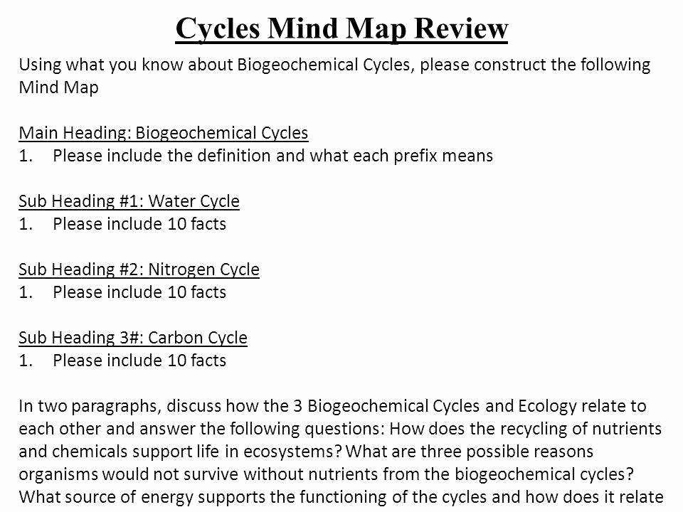 Biogeochemical Cycles Worksheet Answers Unique Biogeochemical Cycles Worksheet