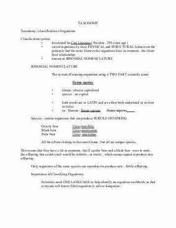 Biological Classification Worksheet Answer Key Elegant Biological Classification Worksheet