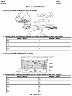 Biotic and Abiotic Factors Worksheet Fresh Ecology Biotic and Abiotic Factors Worksheet Google