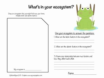 Biotic and Abiotic Factors Worksheet Luxury Biotic and Abiotic Factors In Ecosystems by Marie Myers