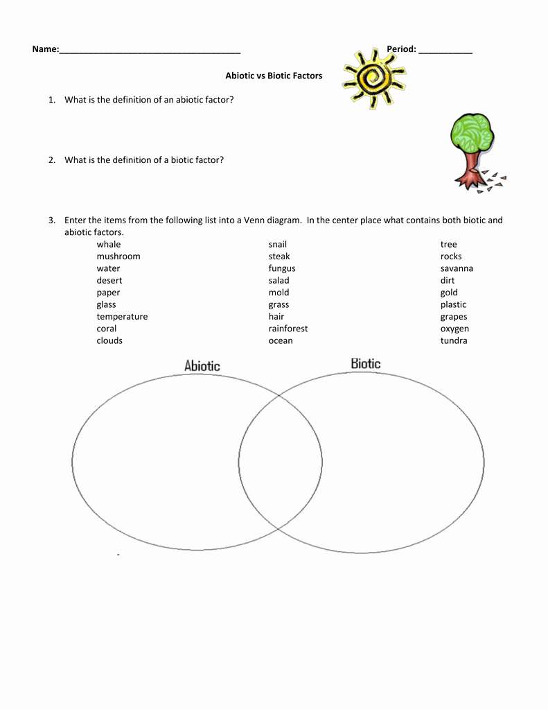 Biotic and Abiotic Factors Worksheet Unique Biotic Abiotic Factors Worksheet Geo Kids Activities