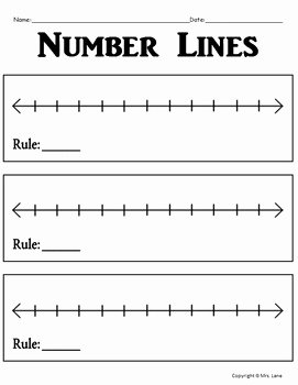 Blank Number Line Worksheet Beautiful Blank Number Line Worksheets Includes 5 Different Number