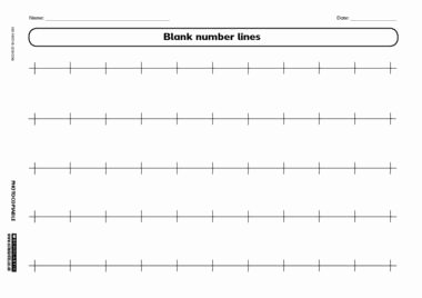 Blank Number Line Worksheet Elegant Blank Number Lines Math Pinterest