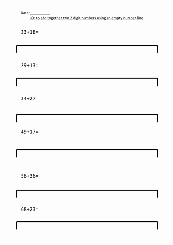Blank Number Line Worksheet Elegant Differentiated Blank Number Line Addition by