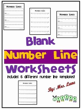 Blank Number Line Worksheet Fresh Blank Number Line Worksheets Includes 5 by Mrs Lane