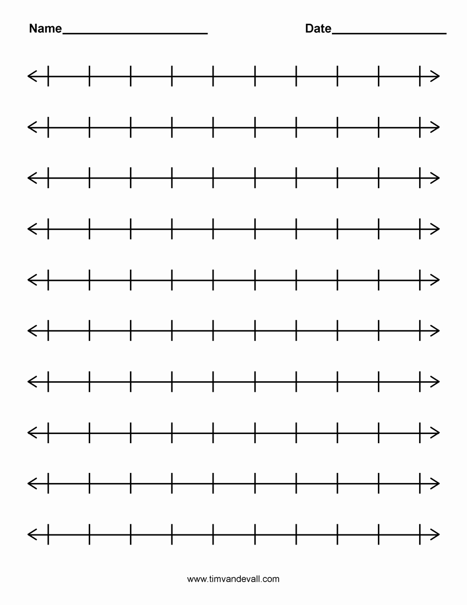 Blank Number Line Worksheet Inspirational Number Line Template