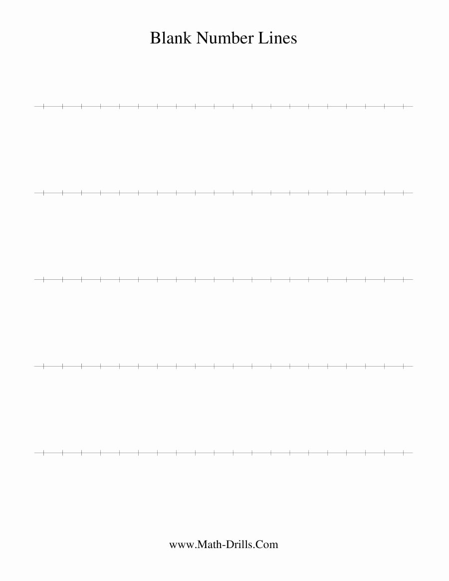 Blank Number Line Worksheet New Blank Number Line