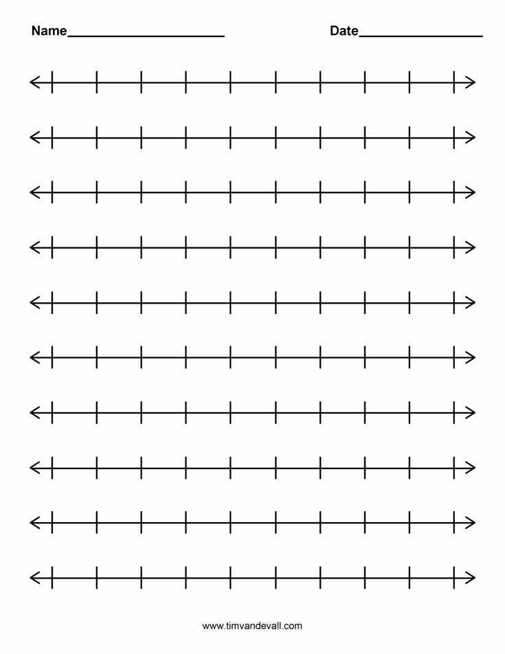 Blank Number Line Worksheet Unique Best 25 Number Line Activities Ideas On Pinterest