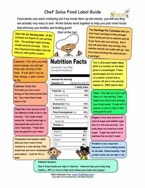 Blank Nutrition Label Worksheet Beautiful Printable Food Labels Informational Learning Sheet