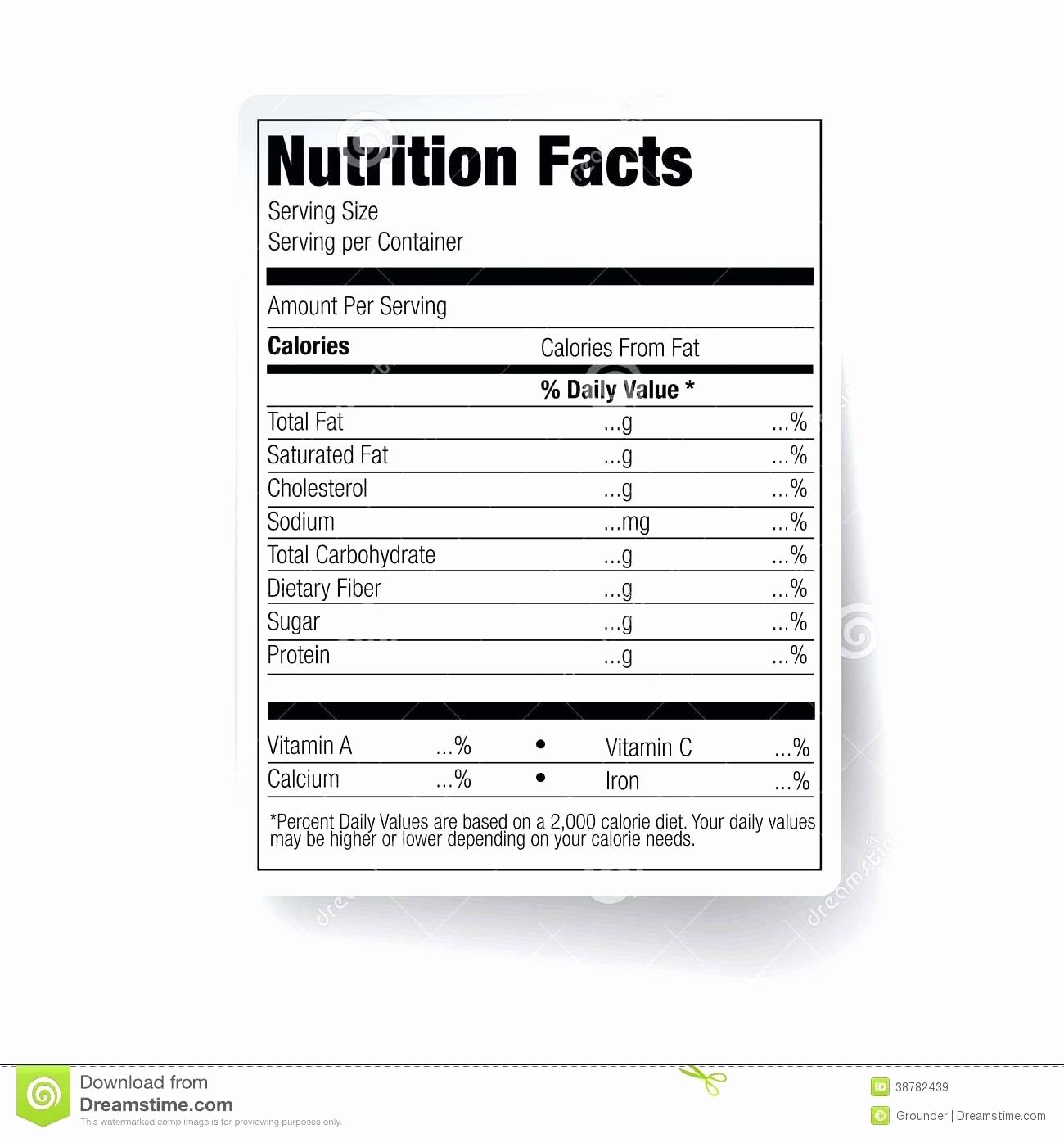 Blank Nutrition Label Worksheet Best Of Blank Food Label Worksheets
