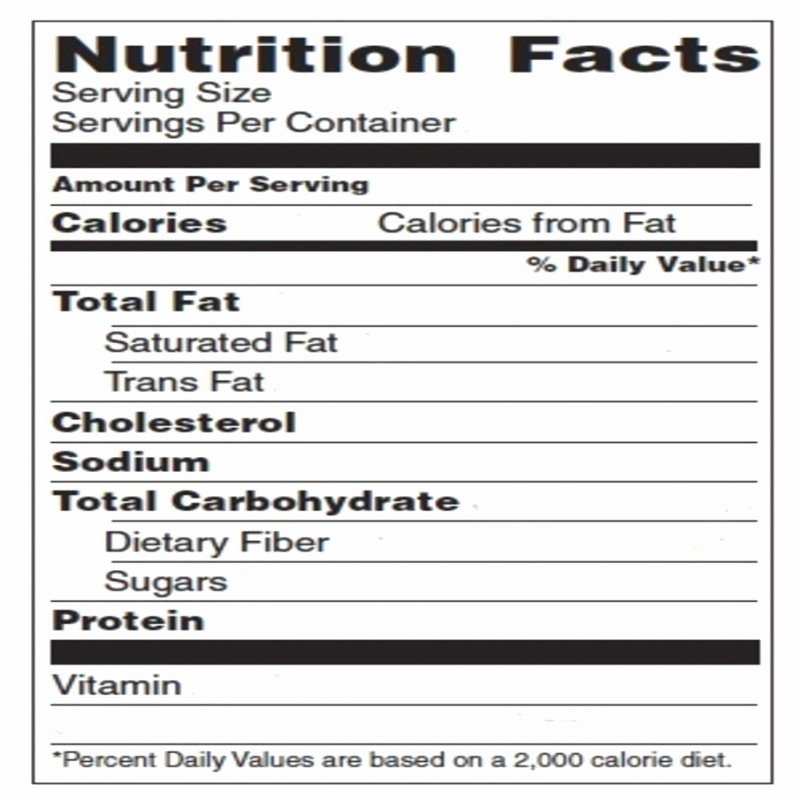 Blank Nutrition Label Worksheet Lovely Blank Nutrition Label Template Word