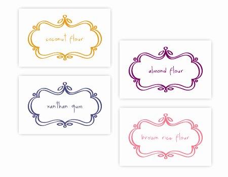 Blank Nutrition Label Worksheet Lovely Free Printable Gluten Free Ingre Nt Labels Blank Labels