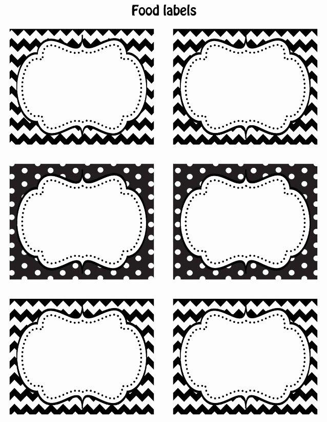 Blank Nutrition Label Worksheet Unique Free Black & White Printable Labels Celebrations at Home