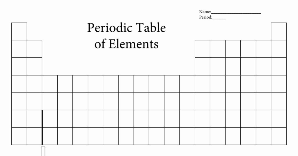 Blank Periodic Table Worksheet Fresh Pin by Template On Template