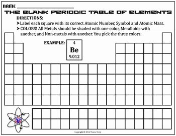 Blank Periodic Table Worksheet Unique Worksheet Blank Periodic Table Challenge B