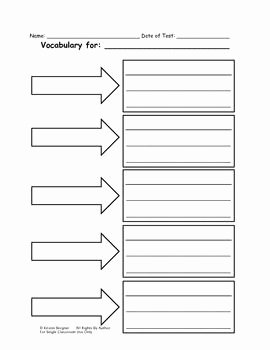 Blank Vocabulary Worksheet Template Beautiful Blank Vocabulary Worksheet Google Search