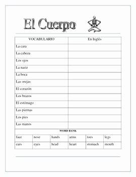 Body Parts In Spanish Worksheet Inspirational El Cuerpo El Esqueleto Label the Skeleton & Body Parts