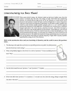 Bohr atomic Models Worksheet Answers Best Of Understanding the Bohr Model 9th 12th Grade Worksheet