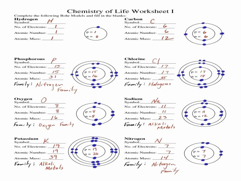 Bohr atomic Models Worksheet Beautiful Bohr atomic Models Worksheet Answers Free Printable