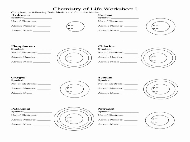 Bohr atomic Models Worksheet Fresh Bohr atomic Models Worksheet Answers Free Printable