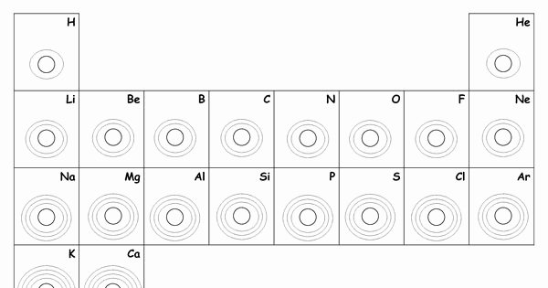 Bohr Model Diagrams Worksheet Answers Awesome Blank Bohr Model Worksheet Blank Fill In for First 20