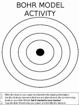 Bohr Model Diagrams Worksheet Answers Beautiful Bohr Model Blank Diagram by Nikki B