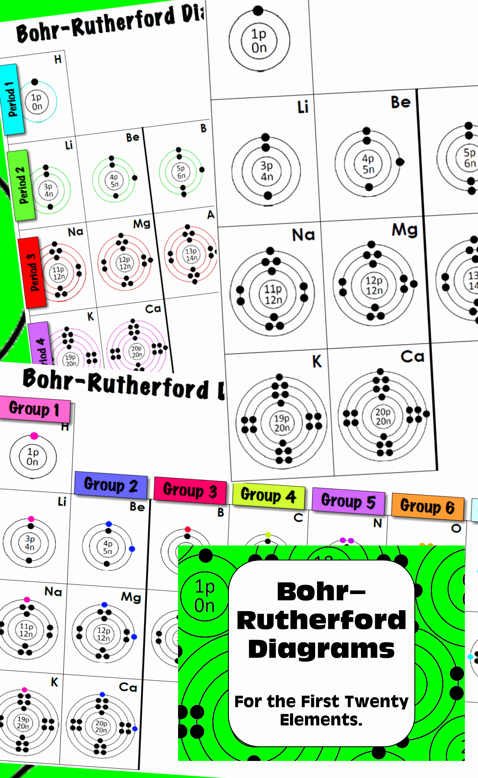 Bohr Model Diagrams Worksheet Answers Luxury atomic Structure First 20 Elements Worksheet
