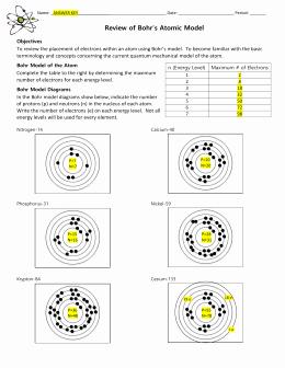 Bohr Model Diagrams Worksheet Answers Unique 3 Bohr Model Worksheet