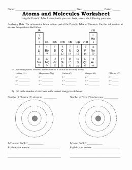 Bohr Model Worksheet Answers Luxury 3 Bohr Model Worksheet