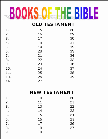 Books Of the Bible Worksheet Beautiful Activity and Game Ideas to Teach the Books Of the Bible