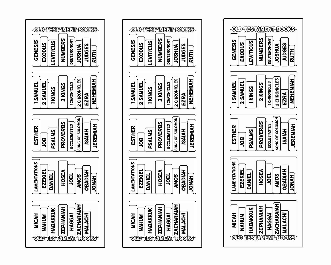 Books Of the Bible Worksheet Beautiful these Bible Bookcase Bookmarks Will Help You Find the