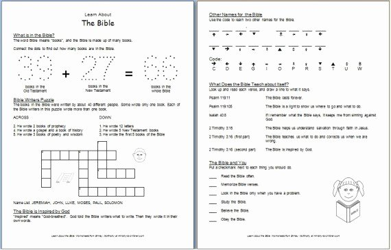 Books Of the Bible Worksheet Inspirational Worksheet Learn About the Bible — Ministry to Children