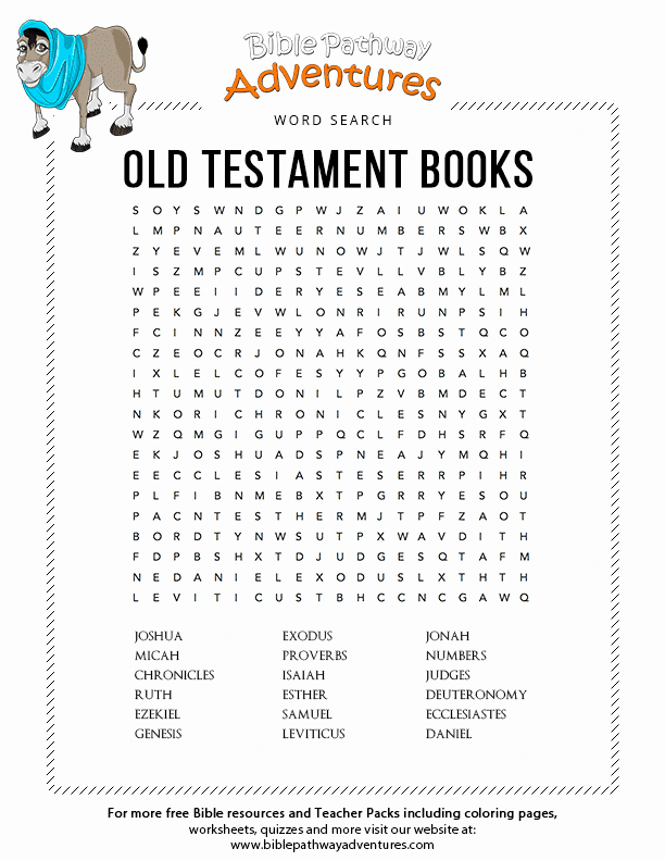 Books Of the Bible Worksheet Lovely Bible Word Search Old Testament Books Tanakh