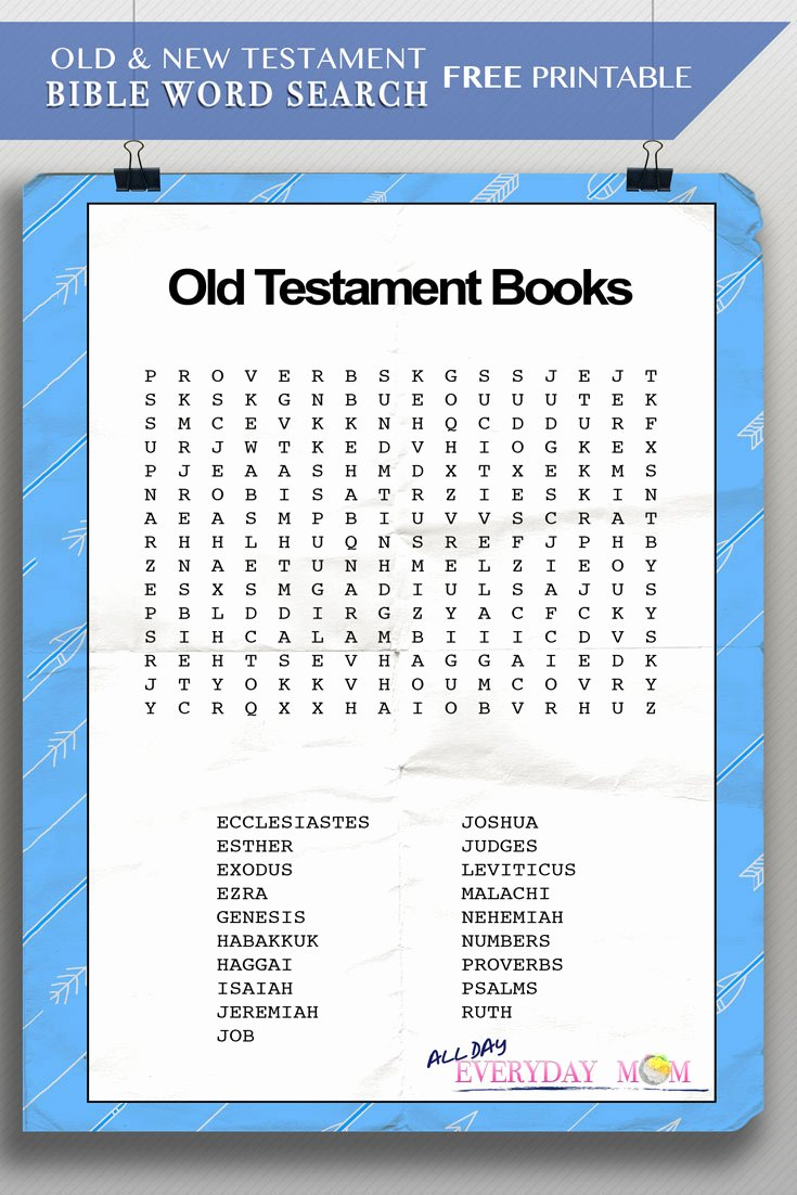 Books Of the Bible Worksheet Luxury Bible Word Search Old New Testament