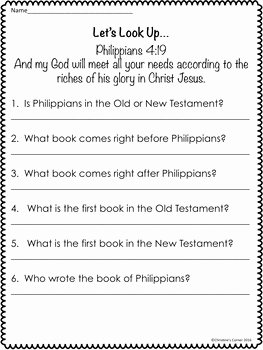 Books Of the Bible Worksheet New 54 Bible Worksheets for You to Plete