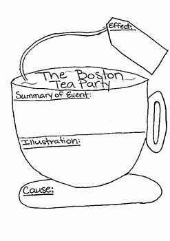 Boston Tea Party Worksheet Awesome Boston Tea Party Cause and Effect by Kristina Bolinger