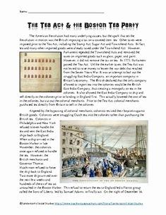 """Boston Tea Party Worksheet Elegant A Liberty's Kids Lk01 """"boston Tea Party"""" Worksheet Ans"""