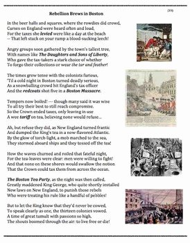 Boston Tea Party Worksheet Elegant Boston Tea Party 33 Poem Worksheets Puzzle by andy