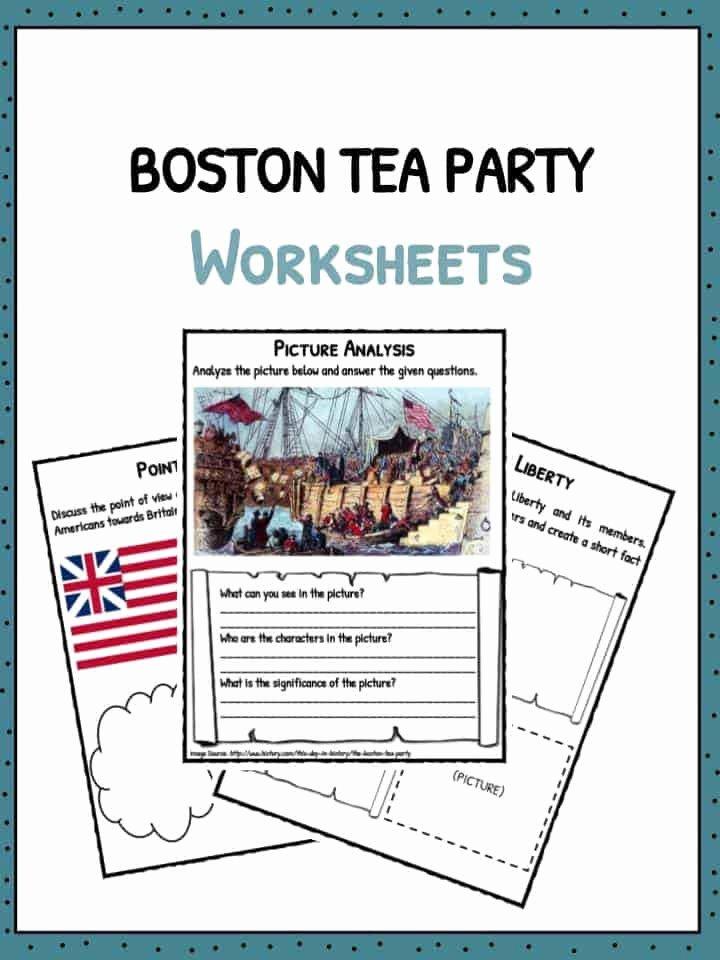 Boston Tea Party Worksheet Inspirational Boston Tea Party Facts Information & Worksheets for Kids