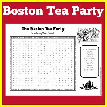 Boston Tea Party Worksheet Luxury Boston Tea Party Activity