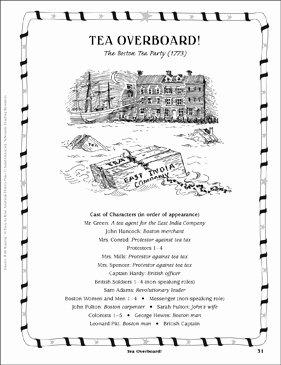 Boston Tea Party Worksheet Luxury Tea Overboard the Boston Tea Party 1773 Play