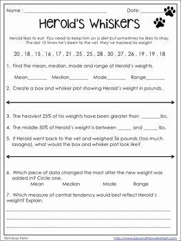 Box and Whisker Plot Worksheet New Box and Whisker Plots Practice Worksheet by Lindsay Perro