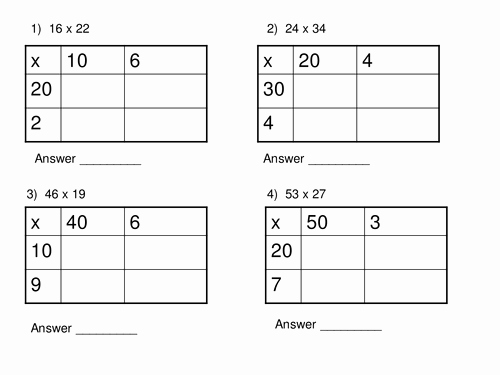 Box Method Multiplication Worksheet Best Of Long Multiplication Box Method Worksheet by thechal1