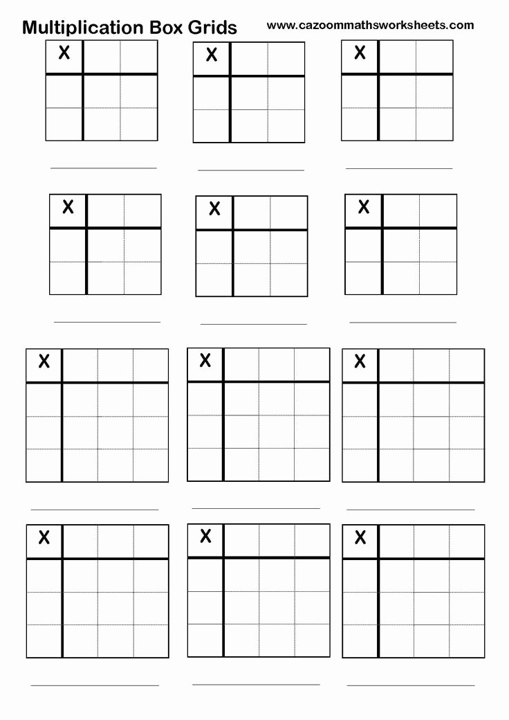 Box Method Multiplication Worksheet Elegant 17 Best Ideas About Multiplication Grid On Pinterest