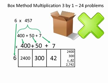 Box Method Multiplication Worksheet Elegant Box Method Multiplication Partial Products 3 by 1 24