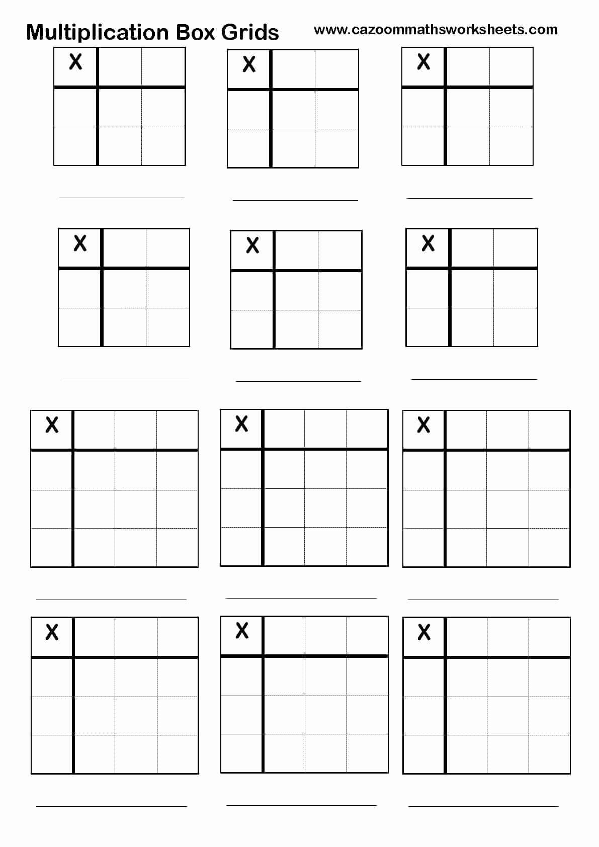 Box Method Multiplication Worksheet Fresh Cazoom Maths Worksheets Number Resources Math Worksheets