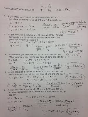 Boyle's Law Worksheet Answer Key Fresh assignments Labs Erhs Chemistry with Mr Stagg